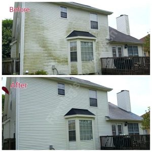 Siding Power Washing Before & After